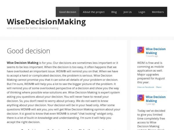 wisedecisionmaking.com
